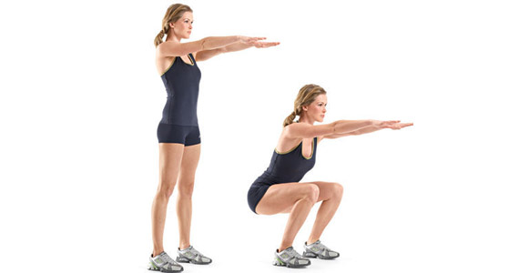 Different Squatting exercise the whole body